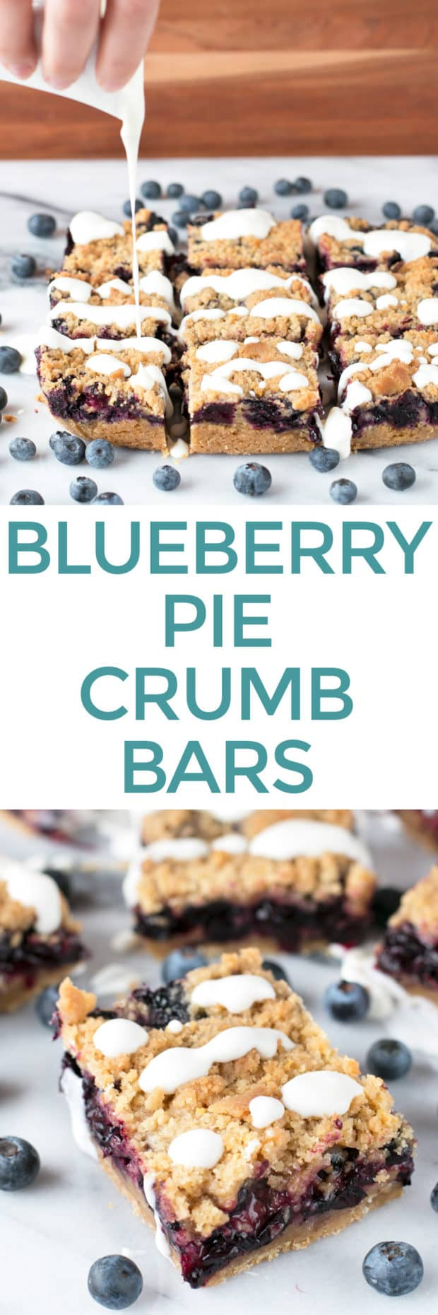 Blueberry Pie Crumb Bars | cakenknife.com #dessert #pie #summer