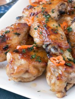 Bourbon Habanero Honey Chicken Wings | cakenknife.com #snack #appetizer #baked