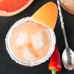 Chili Salty Dog | cakenknife.com #cocktail #vodka