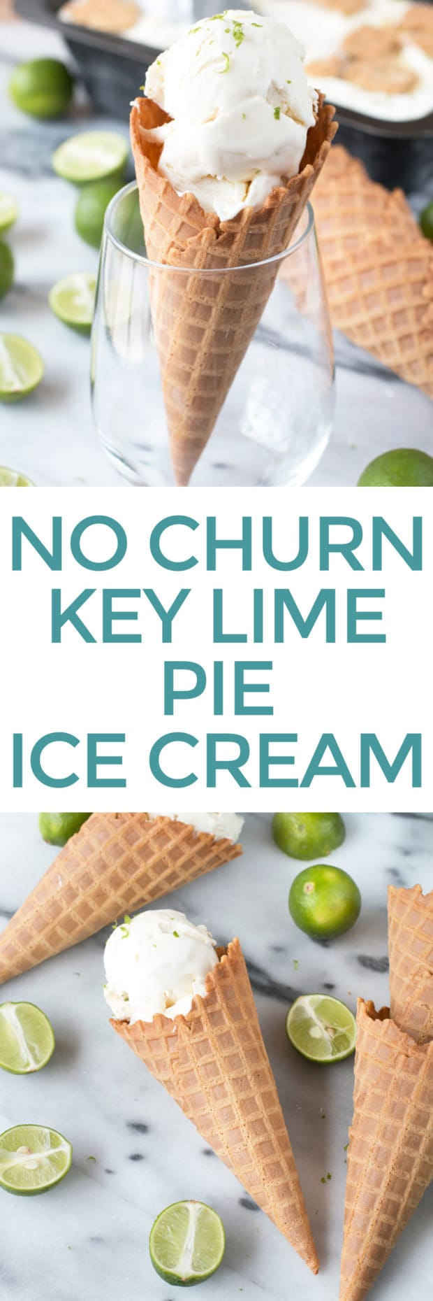 No Churn Key Lime Pie Ice Cream | cakenknife.com #dessert #icecream