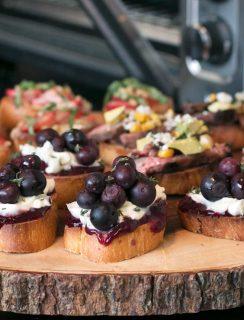Summer Crostini 3 Ways | cakenknife.com #summer #party #appetizer