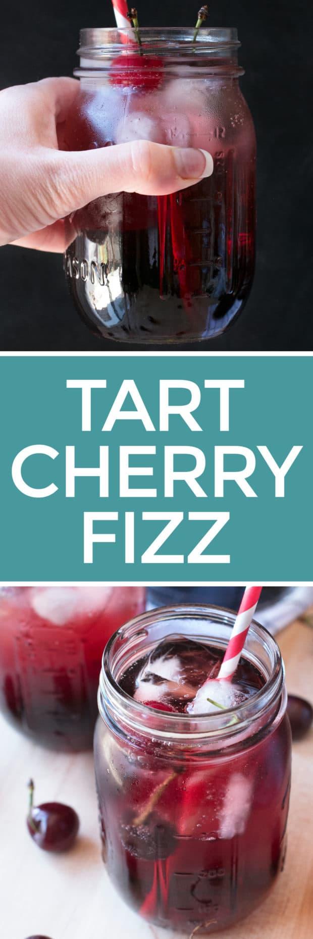 Tart Cherry Fizz   cakenknife.com #cocktail #happyhour