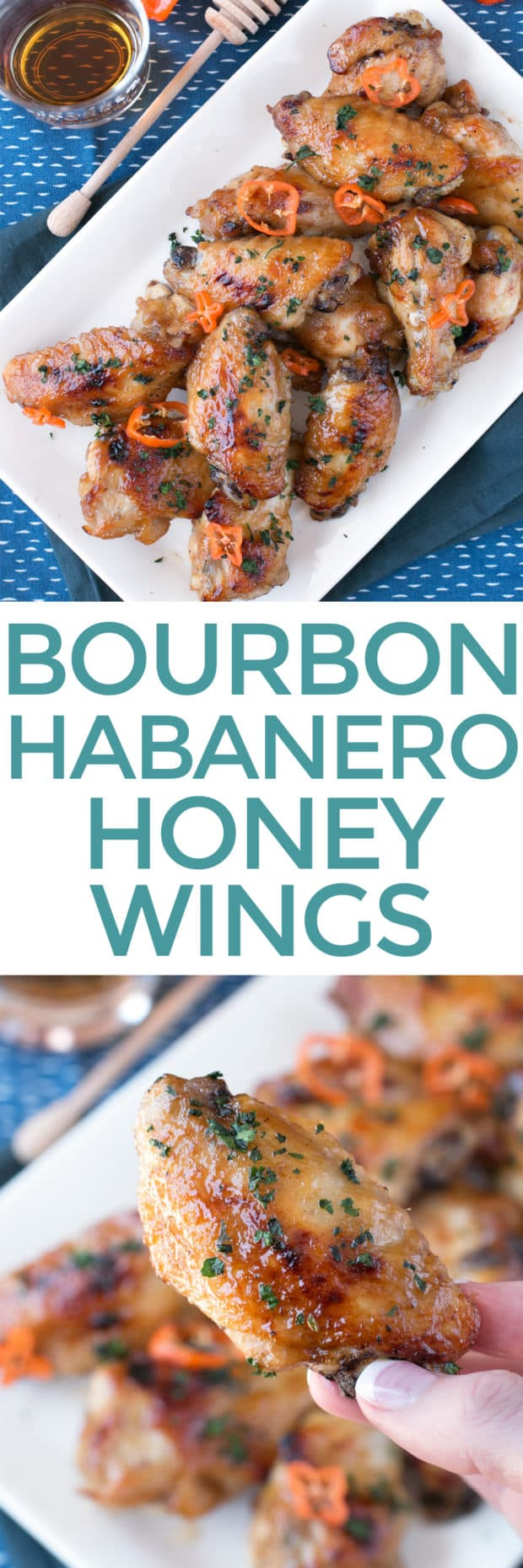 Bourbon Habanero Honey Chicken Wings | cakenknife.com #snack #appetizer #baked