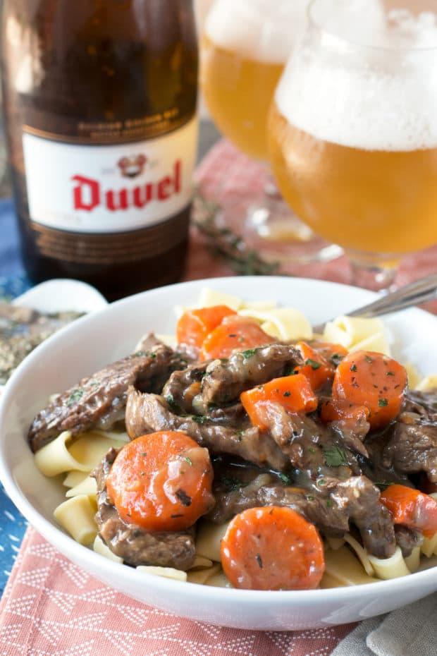 Carbonnades à la Flamande (Belgian Beer Beef Stew) | cakenknife.com #bastilleday #French #Belgium #beer