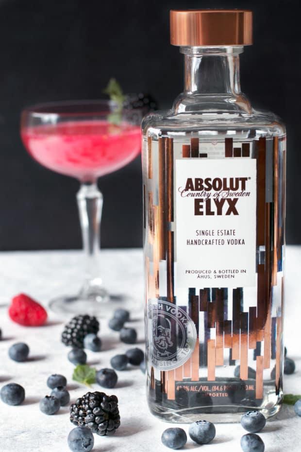 Absolut Elyx Wild Berry Vesper | cakenknife.com #sponsored #cocktail #happyhour
