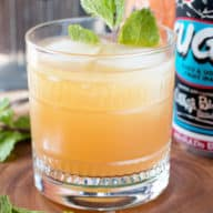 Elvis Cocktail (AKA Grapefruit Gin Beer Cocktail) | cakenknife.com #cocktail #beer #IPA #gin
