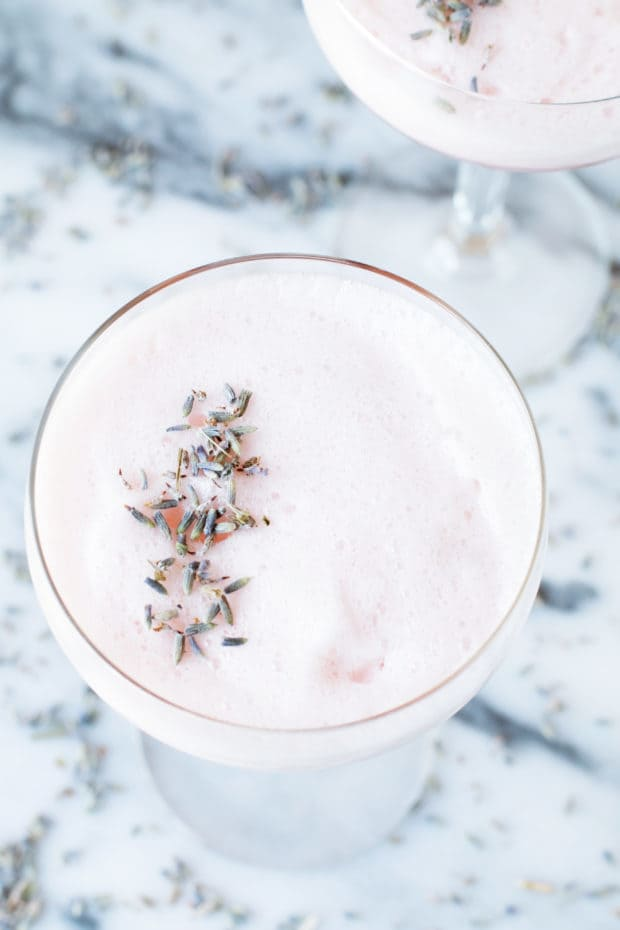 Lavender Rosé Royale Cocktail | cakenknife.com #cocktail #happyhour #roseallday