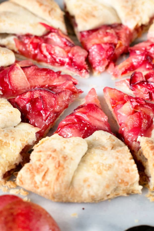 Rustic Pluot Lemon Galette | cakenknife.com #dessert #summer #entertaining
