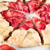 Rustic Pluot Lemon Galette | cakenknife.com #dessert #summer #entertaining