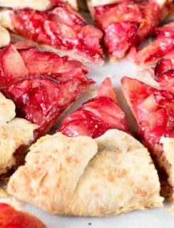 Rustic Pluot Lemon Galette   cakenknife.com #dessert #summer #entertaining