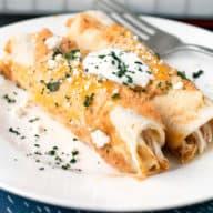 Curry Chicken Enchiladas | cakenknife.com #weeknightdinner #dinner #enchiladas #mexican
