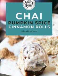Chai Pumpkin Spice Cinnamon Rolls Recipe Pinterest Graphic