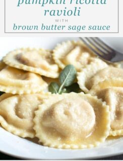 Pumpkin Ricotta Ravioli with Brown Butter Sage Sauce Pinterest recipe