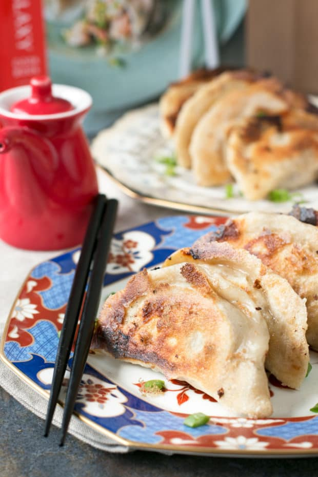 Spicy Beef Dumplings + cookbook review of The Dumpling Galaxy Cookbook | cakenknife.com #dumplings #recipe #asian