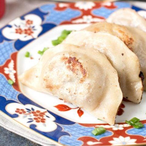 Spicy Beef Dumplings + cookbook review of The Dumpling Galaxy Cookbook | cakenknife.com #dumplings #recipe #asian