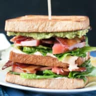 Double Decker BLAT with Spicy Candied Bacon   cakenknife.com #lunch #sandwich #bacon #homemade