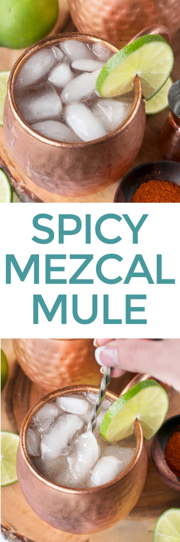 Spicy Mezcal Mule | cakenknife.com #cocktail #fall #moscowmule