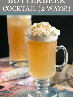 Butterbeer cocktail recipe Pinterest image