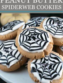 Peanut Butter Spiderweb Cookies Pinterest Image