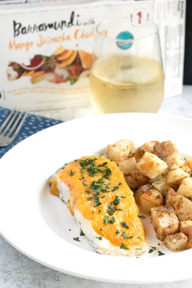 Parmesan Lemon Herb Roasted Potatoes with LoveTheWild's Fantastic Fish Dinner | cakenknife.com #sponsored #healthy #yummy