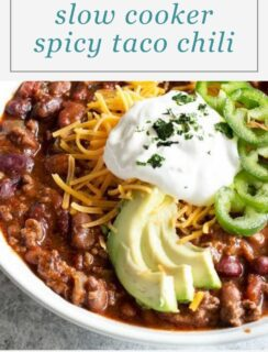 Slow Cooker Spicy Taco Chili Pinterest Recipe