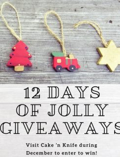 12 Days of Jolly Giveaways on Cake 'n Knife!   cakenknife.com #christmas #giveaway #sponsored