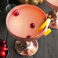 Absolut Elyx Ginger Martini with Drunken Cranberries