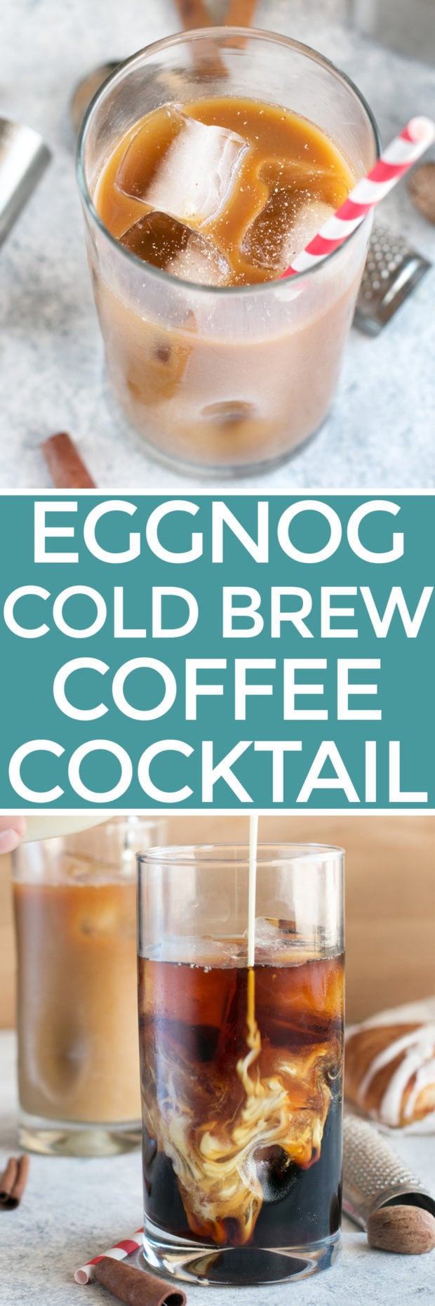 Eggnog Cold Brew Coffee Cocktail | cakenknife.com #cocktail #coffeecocktail #coldbrew #ad