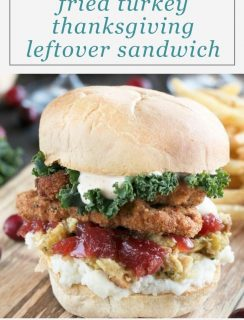 Fried Turkey Thanksgiving Leftover Sandwich Pinterest Graphic
