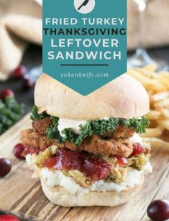 Fried Turkey Thanksgiving Leftover Sandwich Pinterest Image