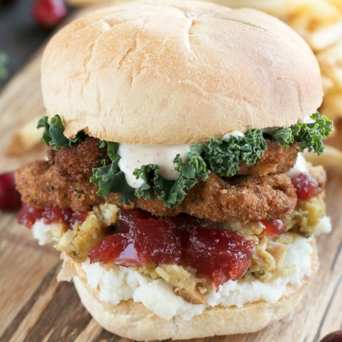 Fried Turkey Thanksgiving Leftover Sandwich