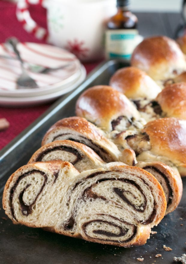Gingerbread Challah Bread | cakenknife.com #bread #holidays #christmas #challah #homemade #ad
