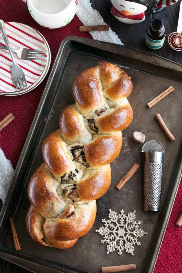 Gingerbread Challah Bread Cake N Knife