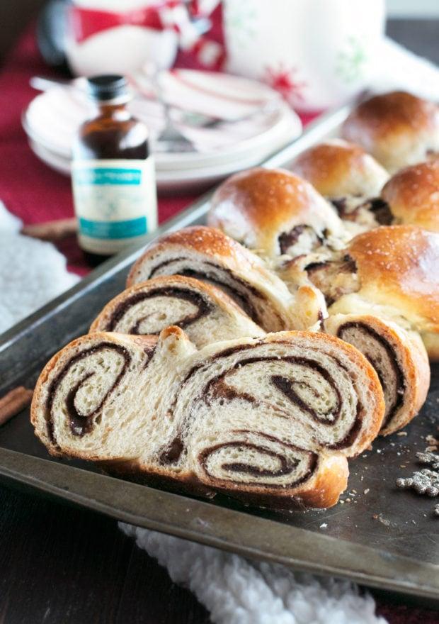 Gingerbread Challah Bread   cakenknife.com #bread #holidays #christmas #challah #homemade #ad