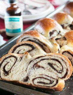 Gingerbread Challah Bread | cakenknife.com #bread #holidays #christmas #challah #homemade #ad