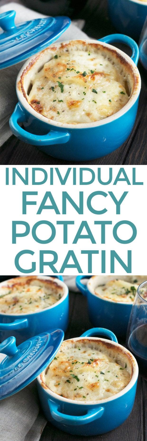 Cheesy Herb Individual Potato Gratin | cakenknife.com #potatoes #sidedish #hoildays #thanksgiving