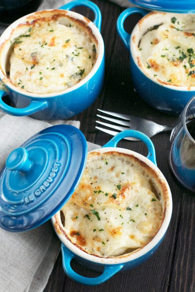Cheesy Herb Individual Potato Gratin   cakenknife.com #potatoes #sidedish #hoildays #thanksgiving