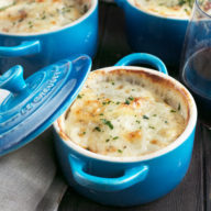 Cheesy Herb Individual Potato Gratin | cakenknife.com #potatoes #sidedish #hoildays #thanksgiving