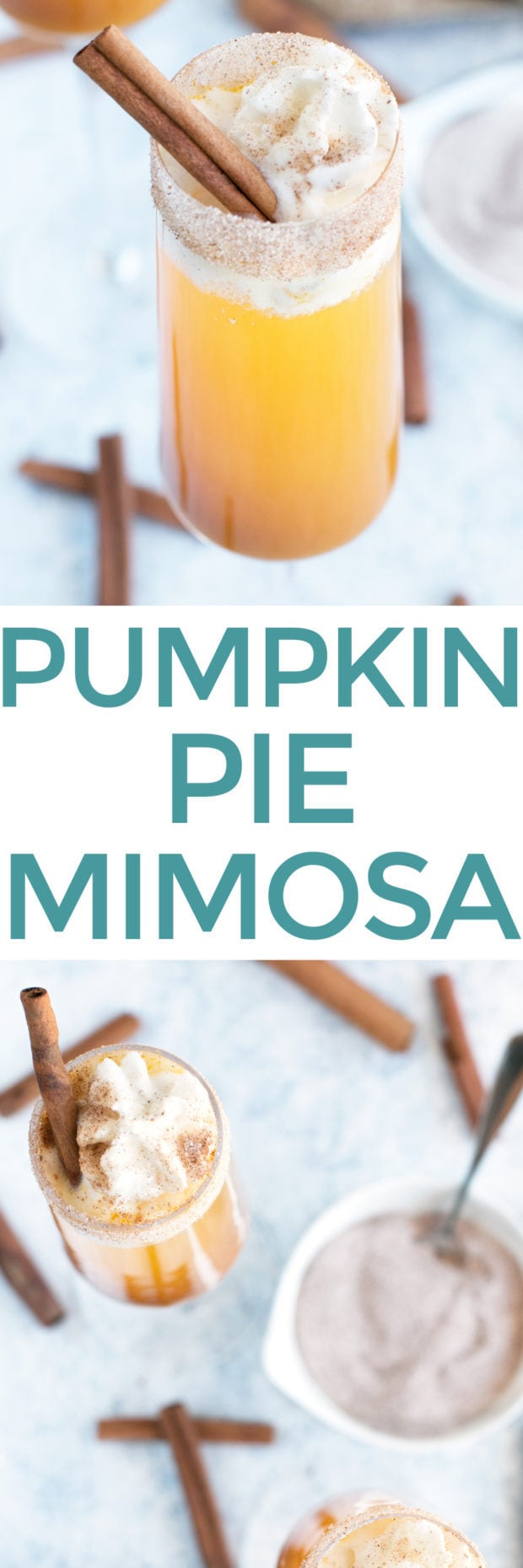 Pumpkin Pie Mimosa | cakenknife.com #cocktail #pumpkinpie #thanksgiving #recipe #champagne