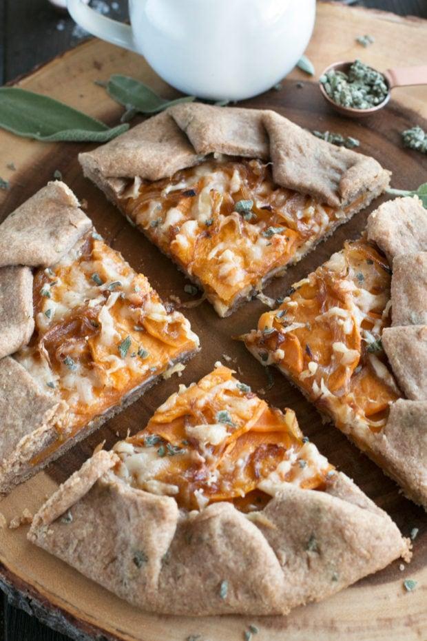 Whole Wheat Asiago Sweet Potato Galette | cakenknife.com #ad #tart #galette #thanksgiving #holiday