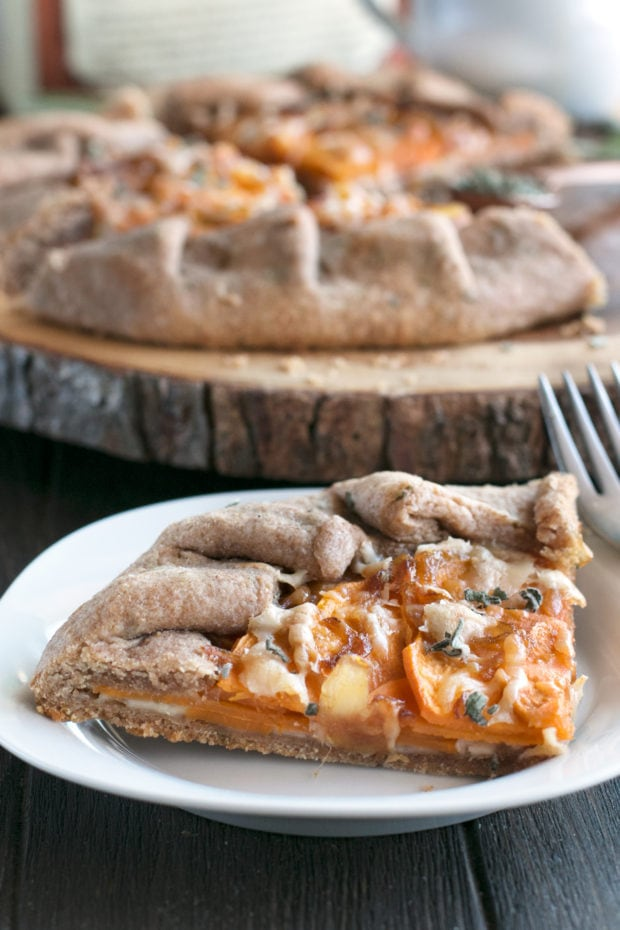 Whole Wheat Asiago Sweet Potato Galette | cakenknife.com #ad #tart #galette #thanksgiving #holiday