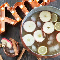 Gingerbread Bourbon Punch | cakenknife.com #bigbatchcocktail #cocktail #moscowmule #bourbon