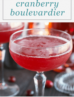 Cranberry Boulevardier Cocktail Pinterest Image