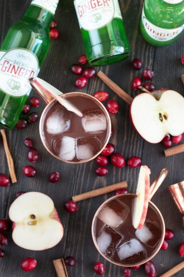 Cranberry Cider Irish Mule