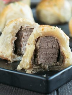 Mini Beef Wellingtons | cakenknife.com #beef #appetizer #sprouts #ad
