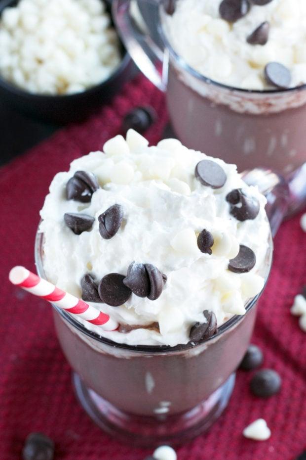 Boozy Zebra Hot Chocolate