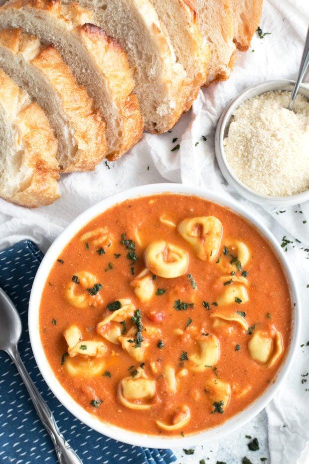 Curry Tomato Tortellini Soup