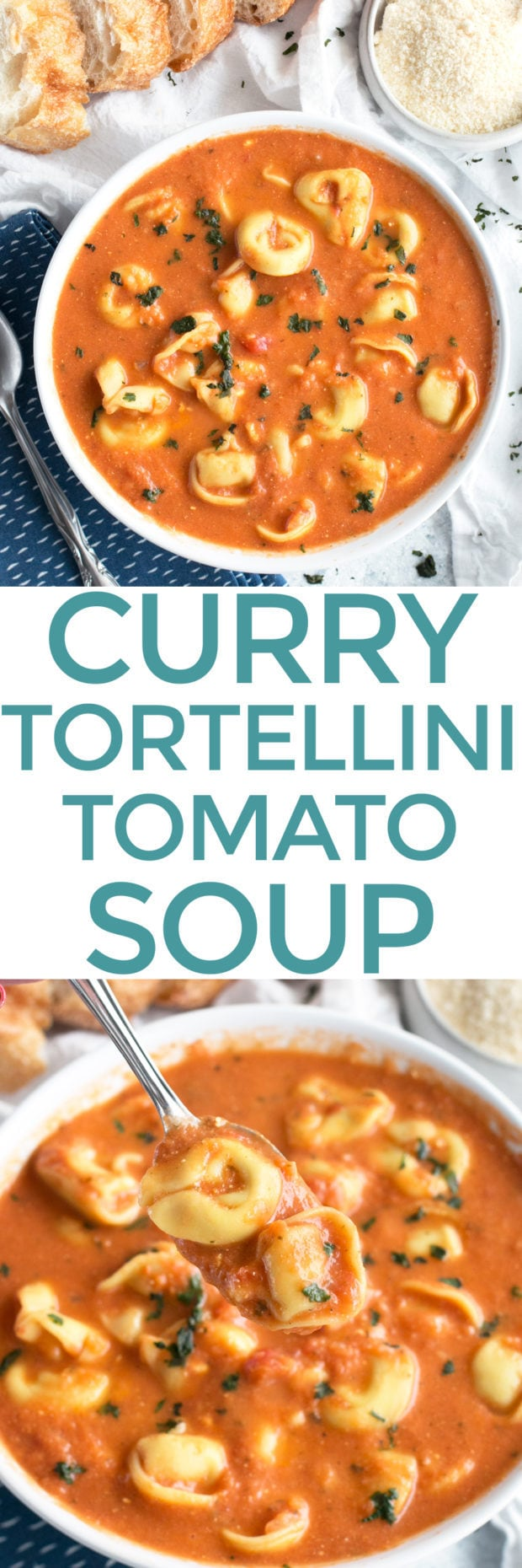 Curry Tomato Tortellini Soup