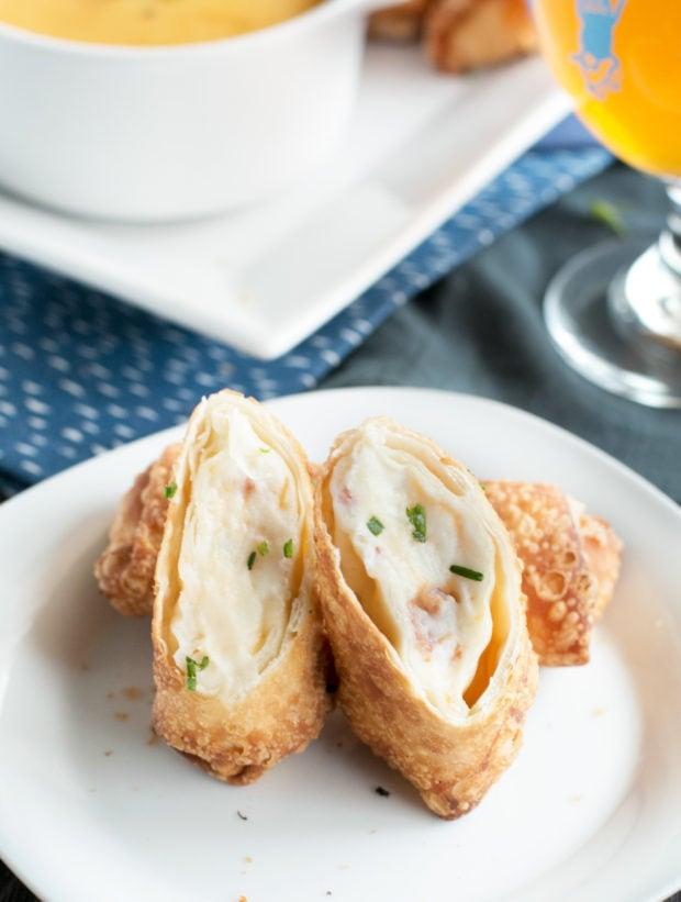 Loaded Mashed Potato Egg Rolls