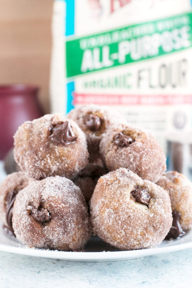 Nutella Filled Donut Holes